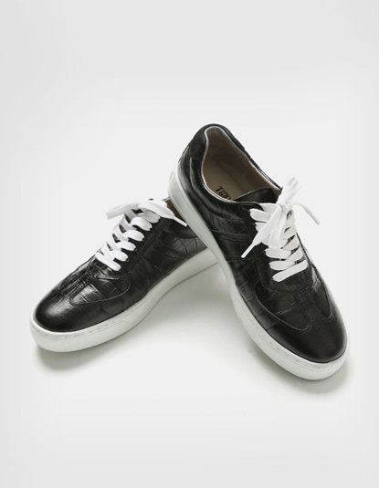[TWOSIDE] Crocodile Black Shoes